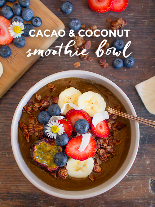 cacao & coconut smoothie bowl | spicyicecream