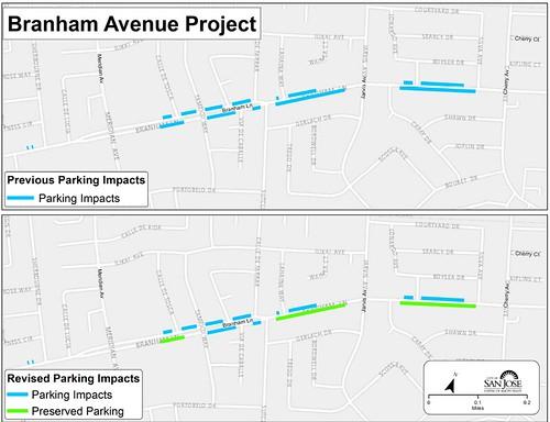 Branham Lane streetscape project San Jose