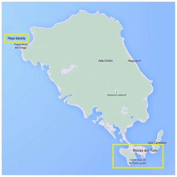 Mapa Playa Estrella
