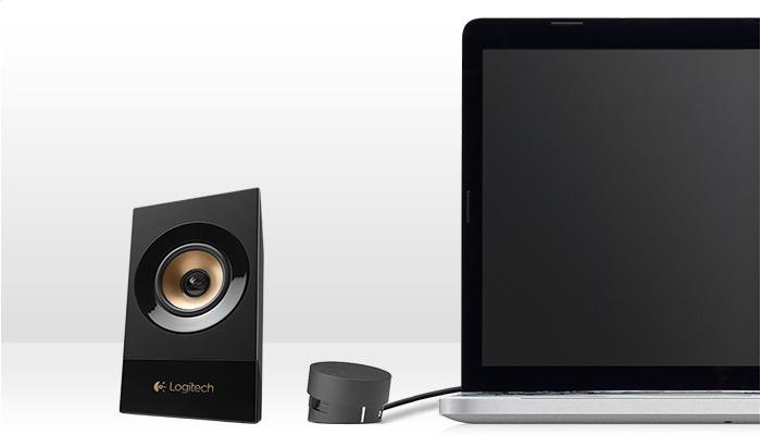 De Logitech Z533 Multimedia Speakers koppel je zo aan je desktop, laptop, smartphone, tablet of TV!