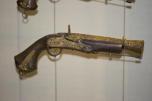 Antique Malaysian blunderbuss pistol