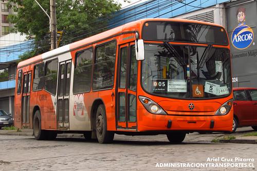 Transantiago - Express de Santiago Uno (U4) - Marcopolo Gran Viale / Scania (CJRX16)
