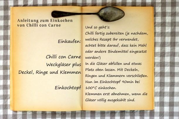 Anleitung Chilli einkochen