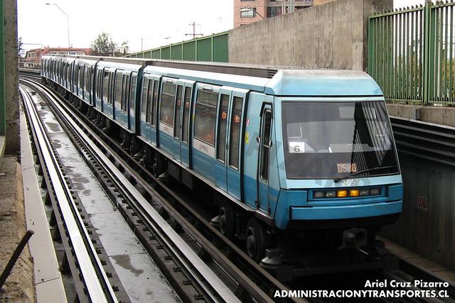 Metro de Santiago - Alstom NS93 N2057 - Bellavista de La Florida / Mirador (L5)