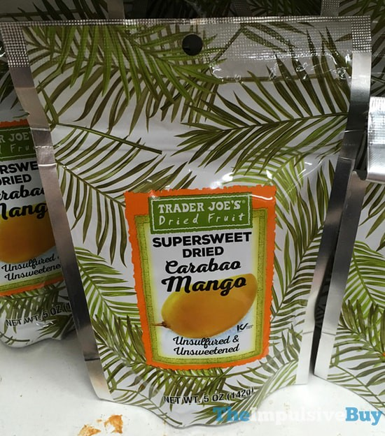 Trader Joe's Supersweet Dried Carabao Mango