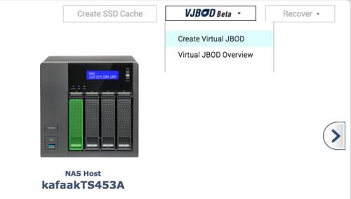 เลือกสร้าง VJBOD ใน Storage Manager