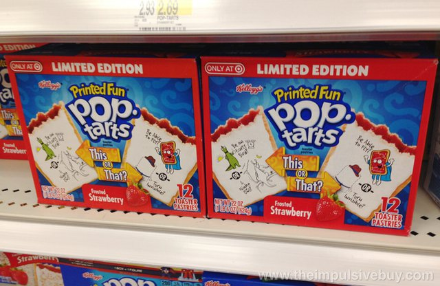 Limited Edition This or That? Frosted Strawberry Printed Fun Pop-Tarts