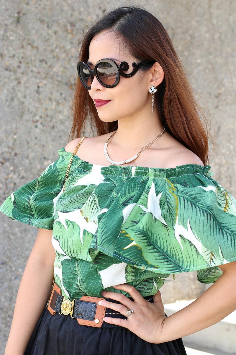 Palm-leaf-print-off-shoulder-prada-sunglasses