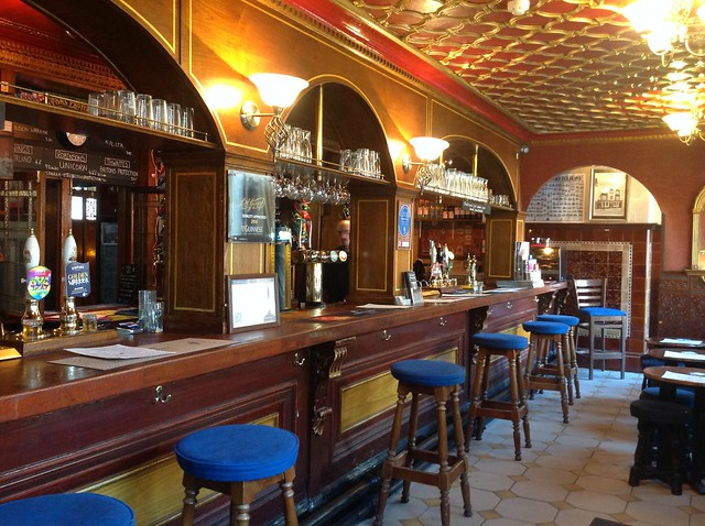 Inside the Britons Protection pub, Manchester.