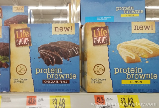 Life Choice Chocolate Fudge and Lemon Protein Brownies