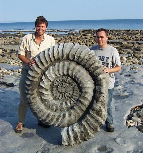 Steve Leonard & Paul Williams - Giant Ammonite, BBC shoot Sept 2003 011