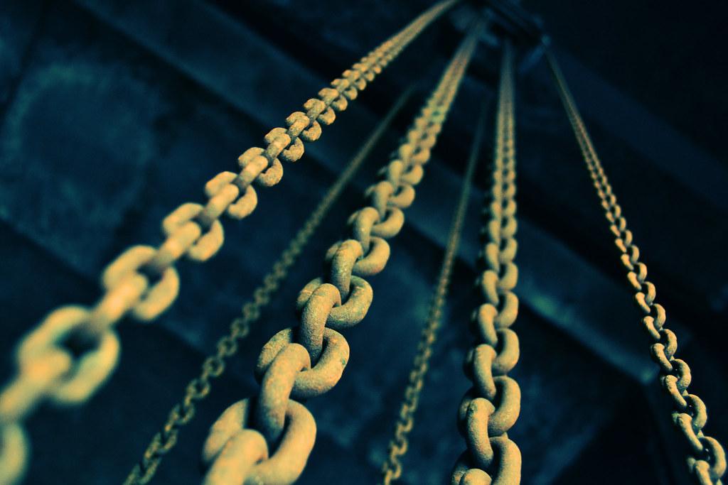 Imagen gratis de unas cadenas oxidadas