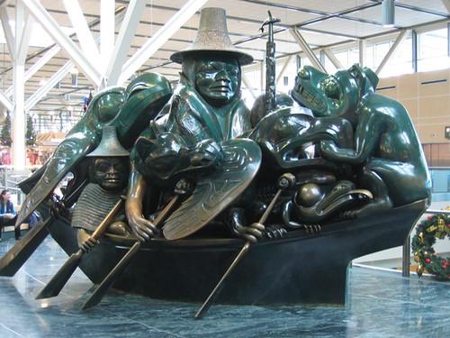 Haida Art statue at YVR  Flickr  Photo Sharing