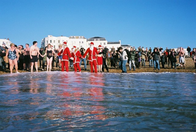 christmass day swim - santa's getting ready