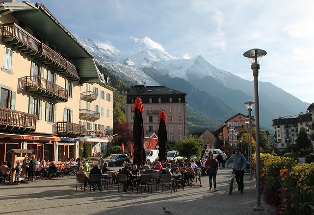 city center chamonix france