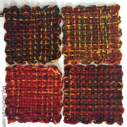 Pin loom samples