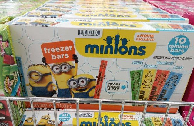 Minions Freezer Bars