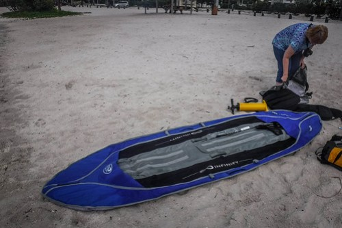 Inflatable Kayak Launch-8