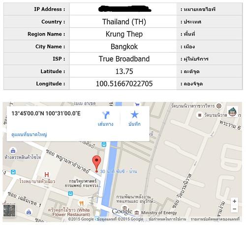 IP Address ของเรา สำหรับคนทั่วไป อย่างเก่งก็บอกได้แค่ชุมสายอินเทอร์เน็ตว่าอยู่ที่ไหน