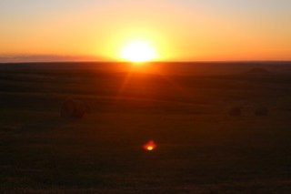 Sunsets on the prairie.