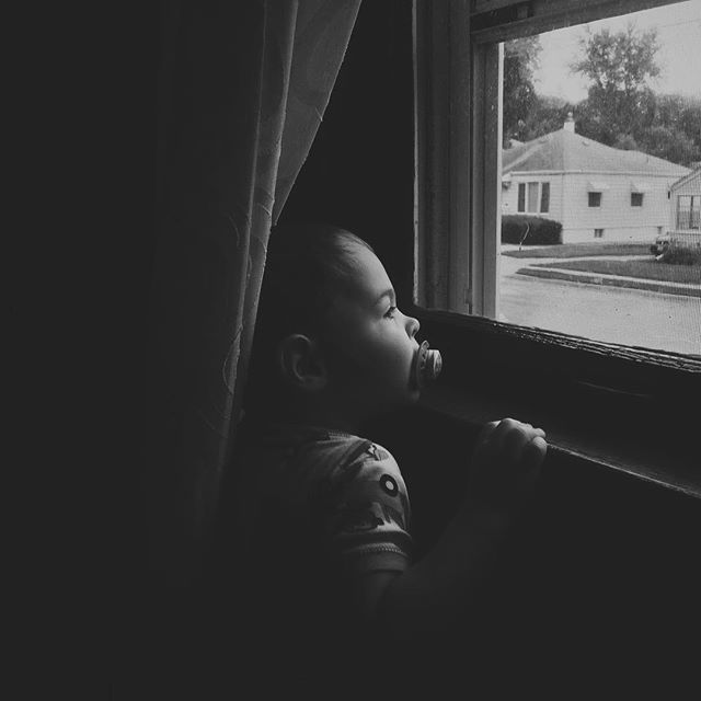 Bedtime? But there's still plenty of daytime left! // #MicahMasato #aksarben #childhoodunplugged #windowwatching #windowwatcher