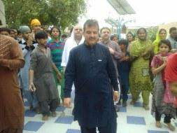Welcome Sain Sadhram Sahib at Pooj Raherki Sahib (1)
