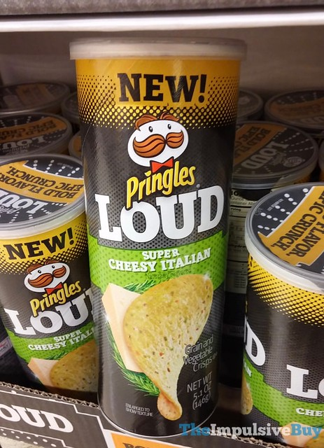 Pringles LOUD Super Cheesy Italian Grain and Vegetable Crisps