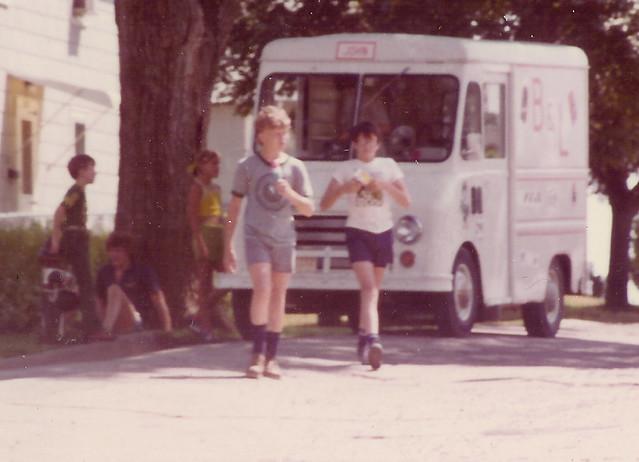 Ice Cream ManSummer 1976  The ice cream man is here
