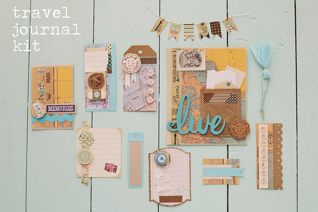 Travel Journal Kit http://www.mylittlescrapshop.com