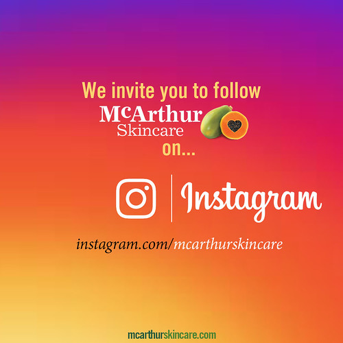 We invite you to follow McArthur Skincare on Instagram