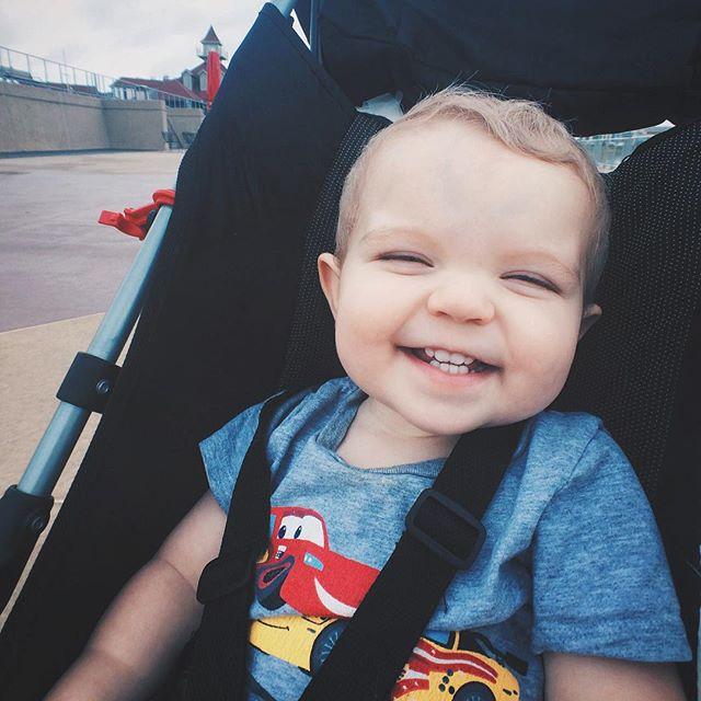 Ezra seems happy to be outside today. It's about 300% humidity, though. // #ezrayuuto #omaha #childhoodunplugged #makemoments