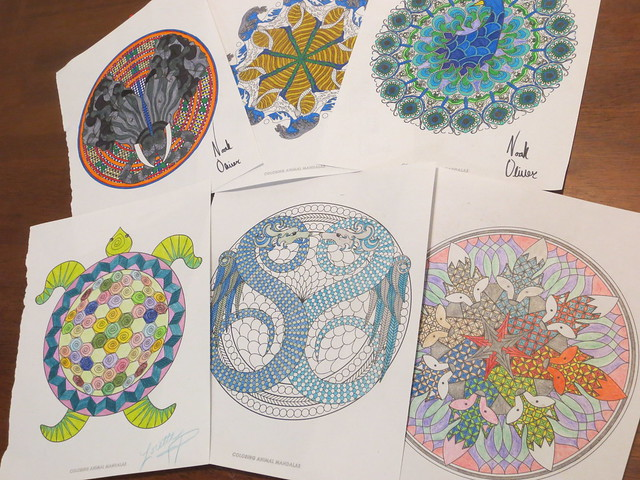 Coloring Animal Mandalas