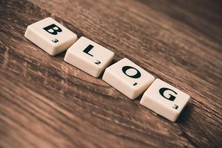 Blog, scrabble tiles