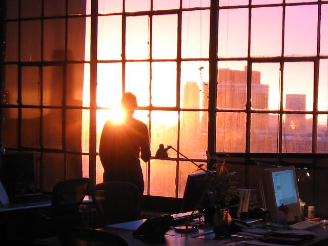 sunset at work.