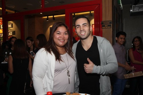 Greenwich Senior PR and Corporate Affairs Manager Cookie Cabrera with MTV Pinoy VJ Chris Schneider