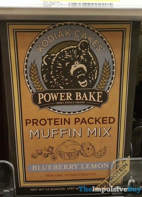 Kodiak Cakes Power Bake Blueberry Lemon Protein Packed Muffin Mix