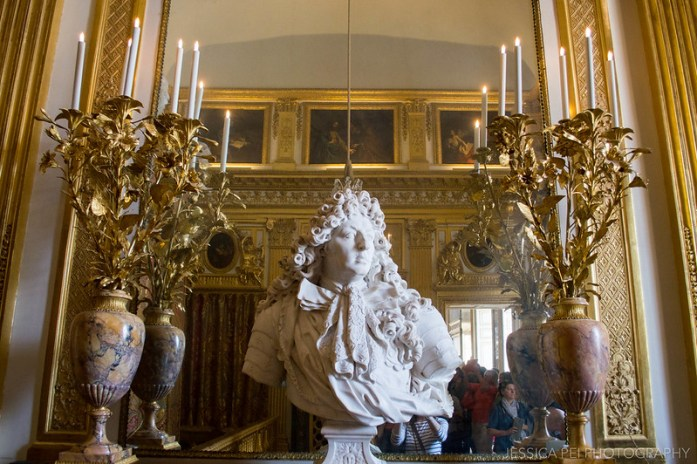 Versailles King's Chamber Louis XIV Statue