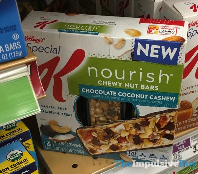 Kellogg's Special K Nourish Chocolate Coconut Cashew Chewy Nut Bars