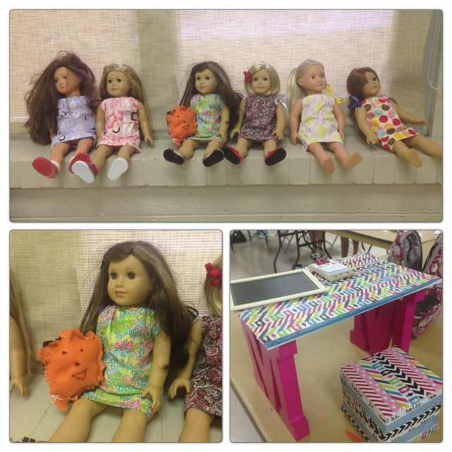 Sewing camp 2015. American girl doll