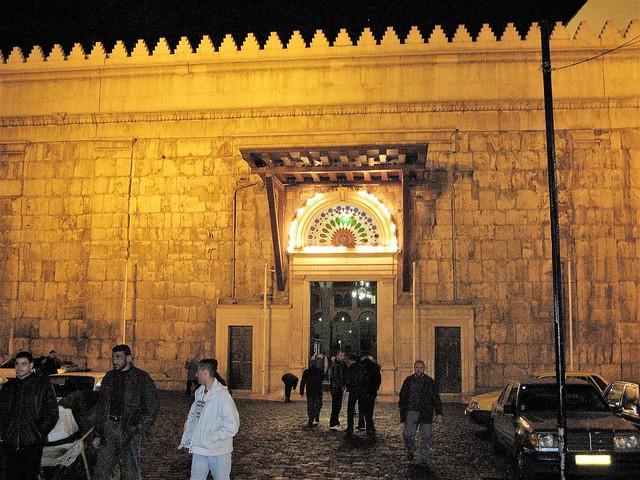 Outside Umayyad Mosque Syria