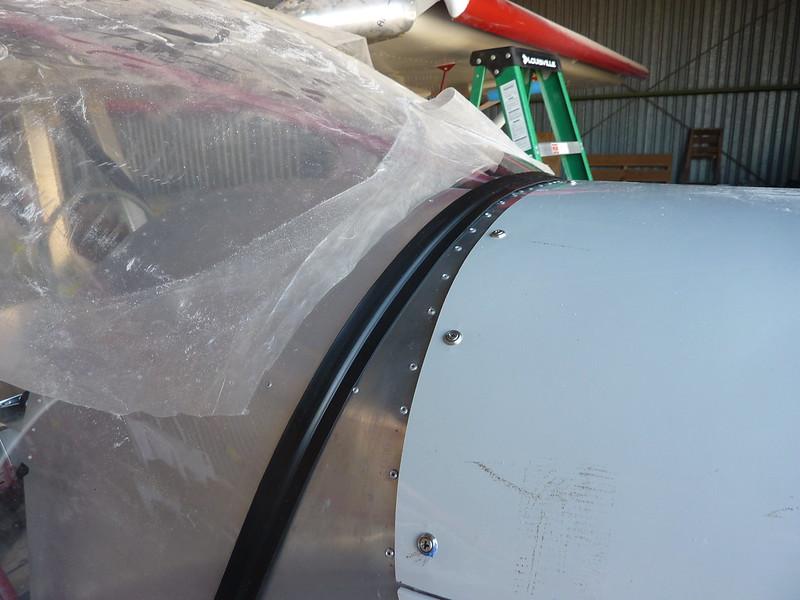Trim glued to windshield