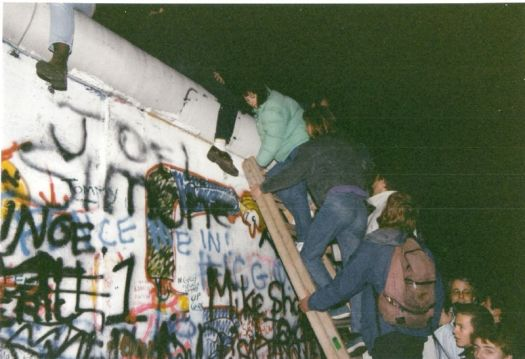 The fall of the Berlin Wall - November 1989