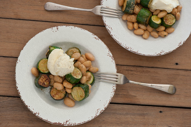 Zucchini with Butter Beans & Goats Curd-2