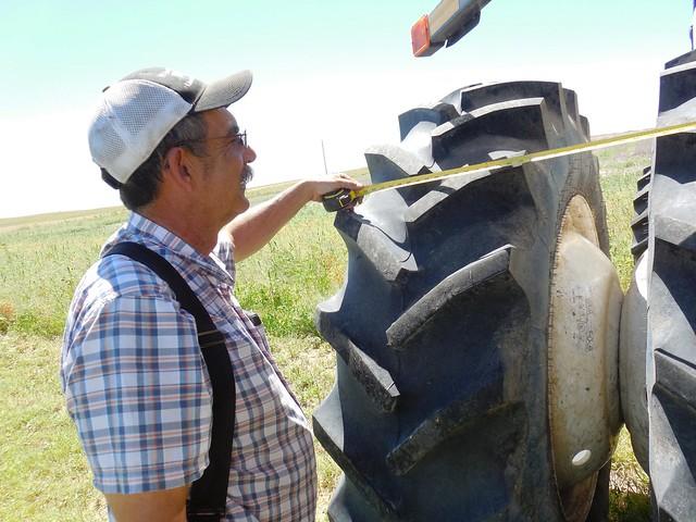 Dad measuring the duals