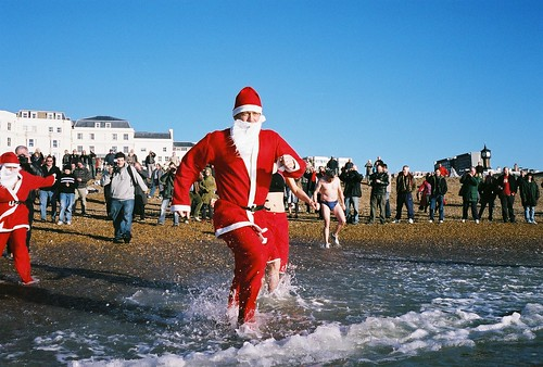 Brighton Christmas day swim by Kevin Meredith