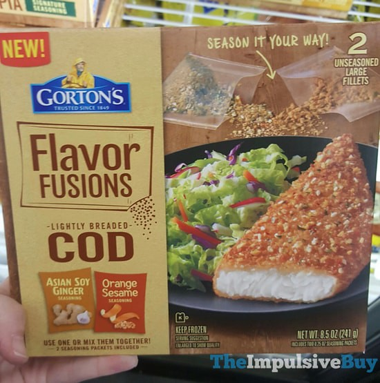 Gorton's Flavor Fusions Lightly Breaded Cod Asian Soy Ginger-Orange Sesame