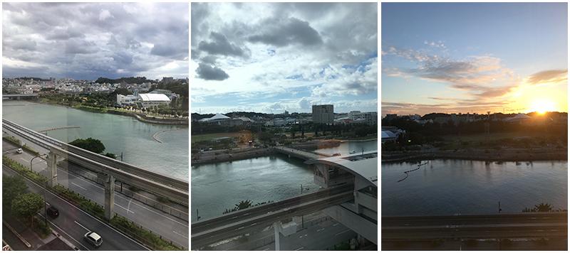 美麗壺川旁住宿體驗~【沖繩那霸美居飯店】窗外
