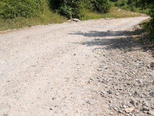 Road condition not great