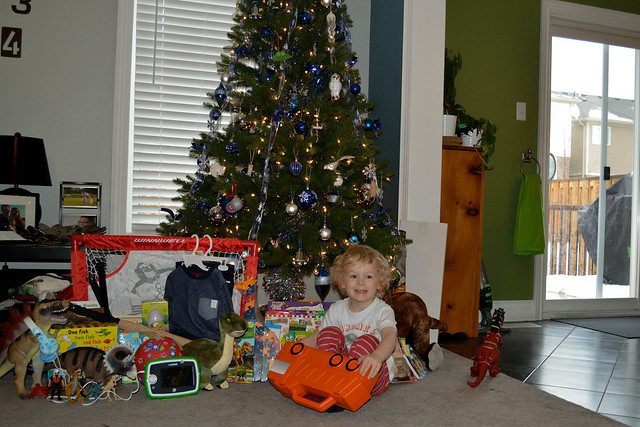 Nate with his gifts