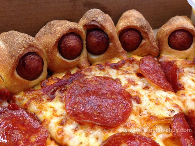 Pizza Hut Hot Dog Bites Pizza Toes